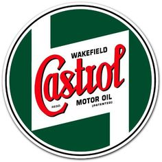 Castrol Racing Motor Oil Car Bumper Sticker Decal 4x4 Funny Bumper Stickers, Cool Stickers, Oil Company Logos, Castrol Oil, American Logo, Retro Scooter, Vintage Tin Signs, Car Signs, Old Logo