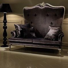 Purple Gothic Victorian Couch Check us out on FB-Unique Intuitions #uniqueintuitions #gothic #victorian #couch
