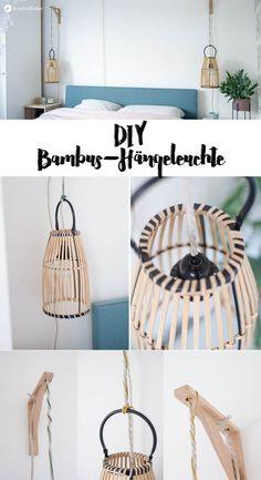 DIY hanging lamp from bamboo lantern upcyclen – Light Ideas Boho Diy, Boho Decor, Diy Hacks, Diy Pendant Light, Diy Upcycling, Recycling Ideas, Murano, Diy Hanging, Hanging Lamps
