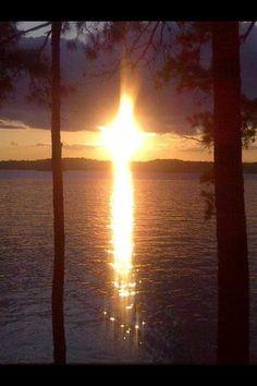 Cross sunset.