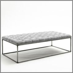 F155-GELATO RECT OTTOMAN TABLE - EARL GREY-25% Discount Was $ 445