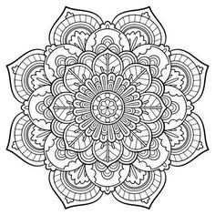 Mandala Vintage coloring page - Nice, printable adult coloring pages