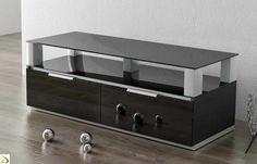 Mobile porta tv moderno con ponte in vetro | Soggiorni | Pinterest ...