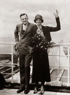 """Amelia Earhart married George Putnam on February Earhart's ideas on marriage were liberal for the time as she believed in equal responsibilities for both """"breadwinners"""" and pointedly kept her own name rather than being referred to as Mrs."""