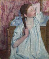 Girl Arranging Her Hair - Mary Cassatt 1886. National Gallery of Art