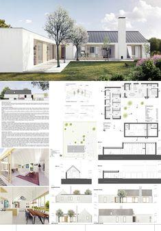 Modern Farmhouse Exterior, Farmhouse Plans, Home Design Floor Plans, House Floor Plans, Minimal House Design, House Construction Plan, Retreat House, Simple House Plans, Model House Plan