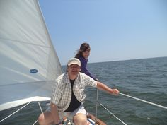 Sailin' with the  girls off Long Island July 2014 . Jasmine pictured here ..age 11 .