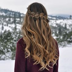 4-Strand Waterfall Braid & Curls on myself ❄️❄️ #luxyhair #dirtyblondeluxyhair