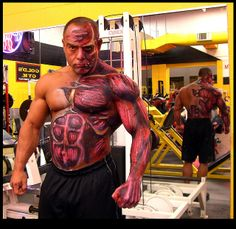 Muscle make-up. Bodybuilding Nutrition, Natural Bodybuilding, Health And Nutrition, Body Painting, Trending Memes, Physique, Healthy Lifestyle, Muscle, Ios App