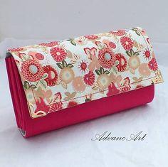 Kvietky v ružovej Continental Wallet, Handmade, Bags, Fashion, Handbags, Moda, Hand Made, Fashion Styles, Fashion Illustrations
