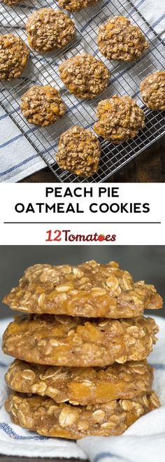 Peach Pie Oatmeal Cookies