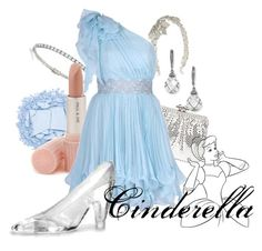 """Cinderella"" by disneyoutfits ❤ liked on Polyvore featuring Gisèle St.Moritz, Urban Decay, Nadri, Matthew Williamson, Wilbur & Gussie, Paul & Joe and ASOS"