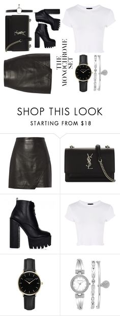 """Untitled #60"" by unicorntips ❤ liked on Polyvore featuring Michelle Mason, Yves Saint Laurent, Topshop, ROSEFIELD, Anne Klein and Levi's"