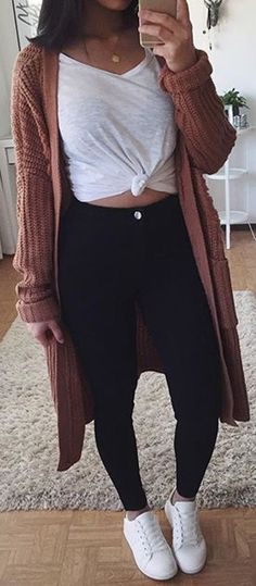 Casual Fall Outfits for Your Daily Fashion - Fall college outfits - Simple Outfits For School, Fall College Outfits, Casual Fall Outfits, Everyday Outfits, Outfits For Teens, Spring Outfits, Casual Summer, Casual Wear, Comfy College Outfit