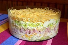 Złocieniecka sałatka warstwowa Chicken Egg Salad, Sweet Recipes, Cake Recipes, B Food, Savory Pastry, Specialty Foods, Polish Recipes, Healthy Salad Recipes, I Love Food