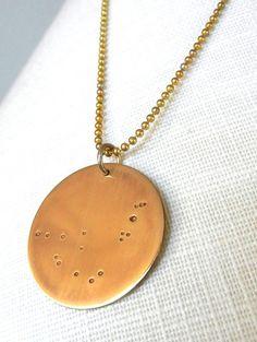 Capricorn Necklace  Zodiac Constellation by eriadesignsjewelry, $27.00