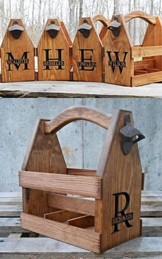 Personalized Beer Caddy Groomsmen Gift