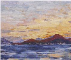 Winston Churchill ~ Mountains and Sea at Sunset
