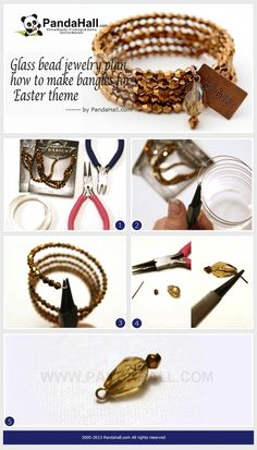 Jewelry Making Tutorial--DIY Glass Beads Memory Bracelets | PandaHall Beads Jewelry Blog
