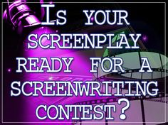 Entering a Screenwriting Contest