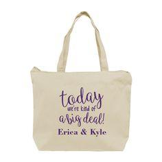 WDTTB207 - Jumbo Reinforced Cotton Canvas Wedding Tote - Cotton Bridesmaid Wedding Tote Bag #wedding #favor #bag