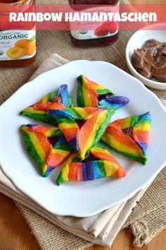 idea, jewish holiday, rainbow hamantaschen, food, bake, rainbows, purim parti, cooki, recip