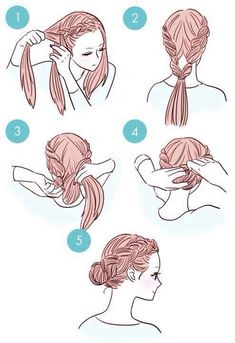 Six Steps Or Less //Hair Style Steps Drawings// #Beauty #Trusper #Tip
