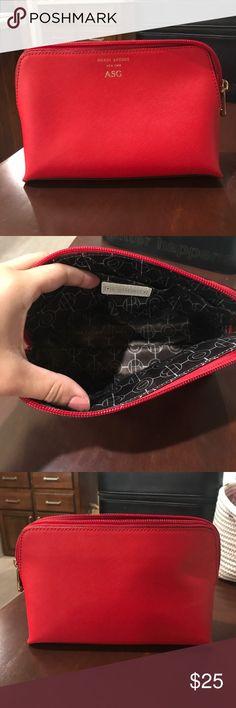 Henri bendel cosmetic bag Engraved yes but in great condition! henri bendel Bags Cosmetic Bags & Cases
