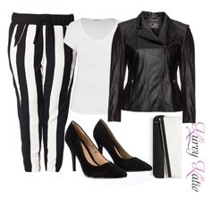 Stripes by kurvy-katie on Polyvore featuring maurices, Kirsten Moden, Carmakoma, Lipsy, BCBGMAXAZRIA, blackandwhite, plussize and plussizefashion