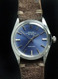Bildresultat för rolex air king precision blue dial