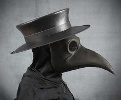 Masque du médecin de la peste Maximus en cuir noir