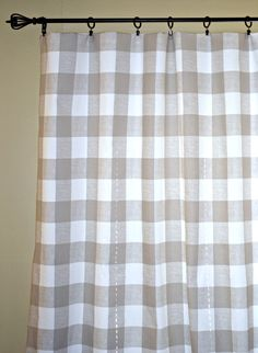 Pair Of Buffalo Check Curtain Panels