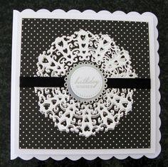 Made by Sandra Fairclough #tatteredlace #cardmaking #birthdaycard