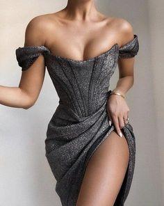 Glam Dresses, Elegant Dresses, Elegant Outfit, Pretty Dresses, Beautiful Dresses, Fashion Dresses, Casual Dresses, Clubbing Dresses, Fashionable Outfits