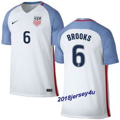 8e274a5d3 John Brooks 6 2016 COPA America Centenario USA Men s Home Soccer Jersey  Kyle Beckerman