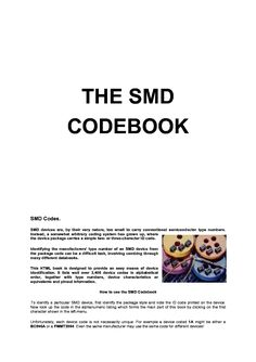 Click on the link for free download! This picture is a preview of SMD CODE BOOK AND BASE PACKAGES
