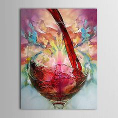 Wine-Cup-Large-canvas-NO-frame-Modern-hand-painted-Art-Oil-Painting-Wall-Decor