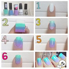 The ombre nail color trend is still a huge hit amongst nail art lovers. If you want to achieve this gorgeous gradient color look at home heres the good news ombre nails are one of the easier nail art techniques that you can do yourself. Ombre Nail Polish, Ombre Nail Colors, Nail Color Trends, Ombre Nail Designs, Nail Polish Art, Diy Nail Designs, Gradient Color, Art Designs, Gel Nails
