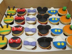 Mickey Mouse Clubhouse Cupcakes...I like it bc it is different, but still obvious.