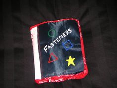 Cloth book: FASTENERS, for teaching toddlers snaps, buttons, etc. - CRAFTSTER CRAFT CHALLENGES