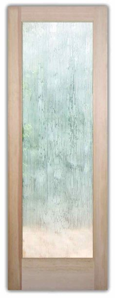 Rain Drizzle Glass Doors Front Entry Etched Glass Door Rain Glass Texture - by Sans Soucie Art Glass (on sliding glass doors for privacy without compromising natural light? OR, better yet!!  Etched design of the Ko'olau mountains - with waterfalls!))