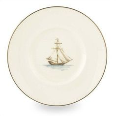 British Colonial Tradewind Dessert Plate [Set of 2] by Lenox. $27.90. 6226823 Features: -Introduced in 2002.-Dishwasher-safe.-Microwave-safe.-Matching Mug Separately.-Made in the USA. Color/Finish: -Material: White Bone China Accented with 24 Karat Gold. Collection: -Part of the British Colonial Tradewind Dinnerware Collection.
