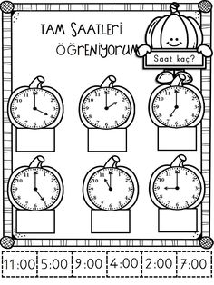 Pumpkin Time Center: Telling Time to the Hour. by Curriculum Castle Math For Kids, Lessons For Kids, Fun Math, Math Lessons, Preschool Activities, 2nd Grade Worksheets, School Worksheets, Time To The Hour, Math Sheets
