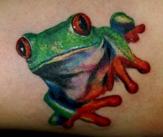 frog tattoos designs | Tree Frog Tattoo Design
