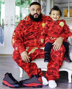 844455ee1037bc DJ Khaled s love for his son is unimaginable. The father and son posed for  the camera as they wore matching outfits from head to toe.