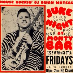 DJ Brian Waters tonight! Booties will be quakin'! At 10, no cover!