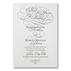 Whirlwind Romance - Invitation. Available to order at Persnickety Invitation Studio.