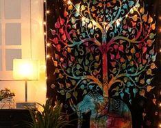 Hippie Bohemian Indian Mandala Tapestry Wall Hanging Bedspread   Etsy Bohemian Tapestry, Mandala Tapestry, Hippie Bohemian, Hanging Wall Art, Tapestry Wall Hanging, Wall Art Decor, Sun And Moon Tapestry, Psychedelic Tapestry, Indian Mandala