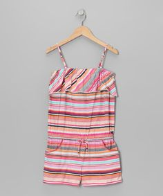 Take a look at this Coral Chickadee Romper - Girls on zulily today!