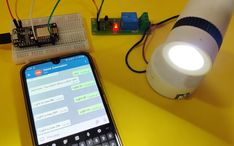 In this IoT project we will control an AC lamp with a text message from Telegram application using NodeMCU. Esp8266 Projects, Simple Arduino Projects, Electronic Circuit Projects, Send Text, Thermometer, Diy Tech, Circuit Diagram, Home Automation, Text Messages
